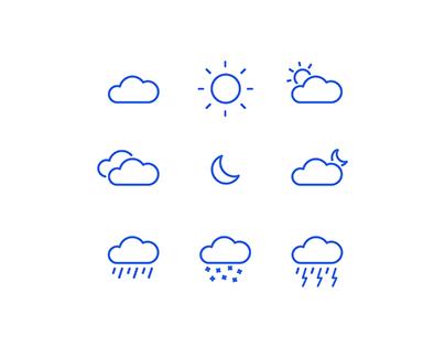 Minimal Weather Icons 🌥