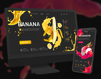 Online-store of exotic fruits