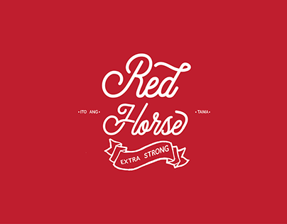 Red Horse Beer Typography