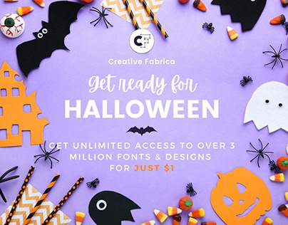 🎃 3 million fonts & graphics for only $1 🎃