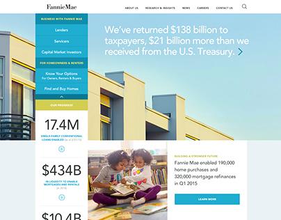 Fannie Mae Website Concept Designs