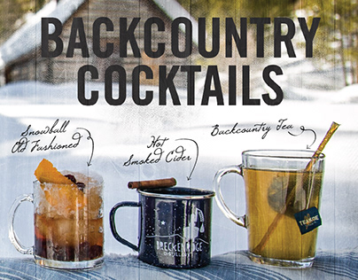 Breck Distillery's Backcountry Cocktails • Branding