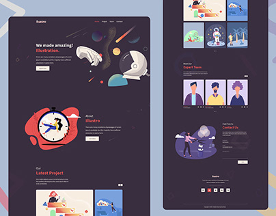 ilustro-Design Agency Website Template Design