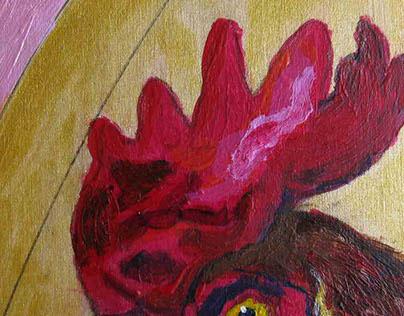 Birds (Chickens)2015 WIP (paintings)