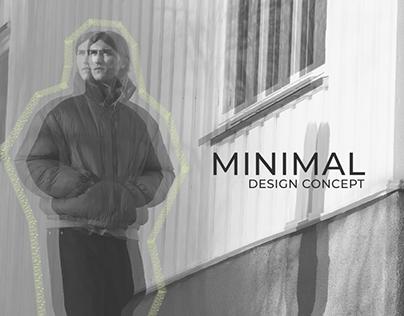 Minimal E-shop design concept