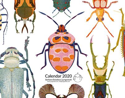 2020 bug calendar