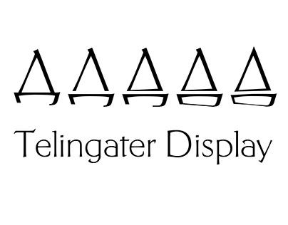 Telingater Display. Sailboat russianfont