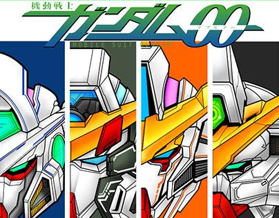 Moile Suit Gundam 00 First Season Heads