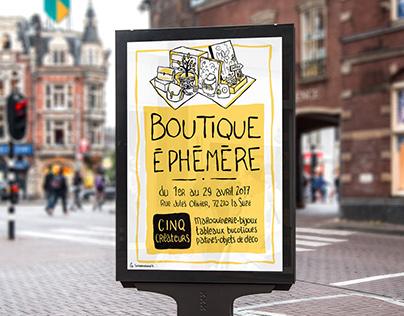 Affiche & Flyer Boutique éphémère
