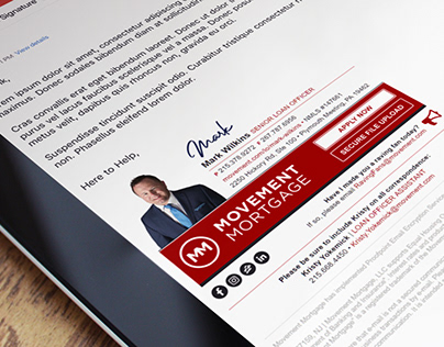 Custom HTML Email Signature for a Mortgage Lender