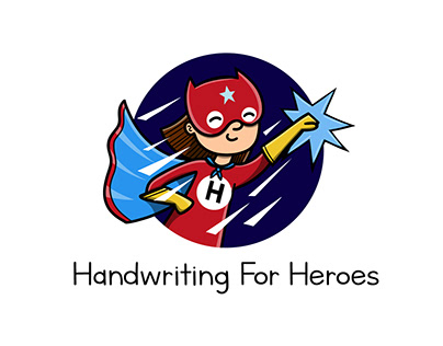 Logo Illustration: Handwriting for Heroes