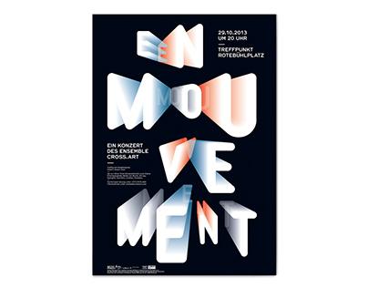 En Mouvement – visual concept, poster design