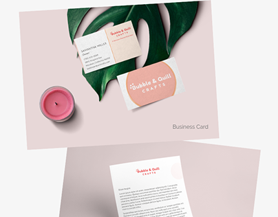 Bubble & Quill Crafts branding project