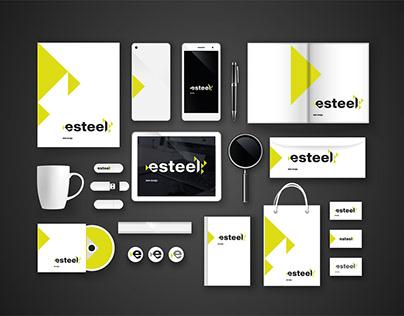 Logo design for Esteel