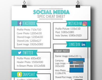 Social Media Spec Cheat Sheet