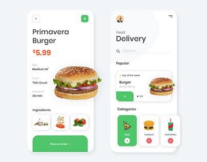 App Design for Order Food Online