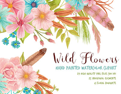 Wild Flowers Graphic Set