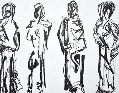 Figure Studies in Ink