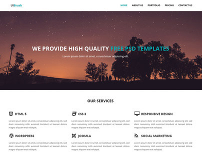 Teal Free PSD And Responsive HTML Template