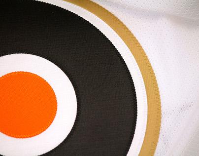 Philadelphia Flyers 50th Anniversary Jersey Infographic
