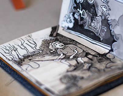 """Accordion book """"Stribor's Forest"""""""