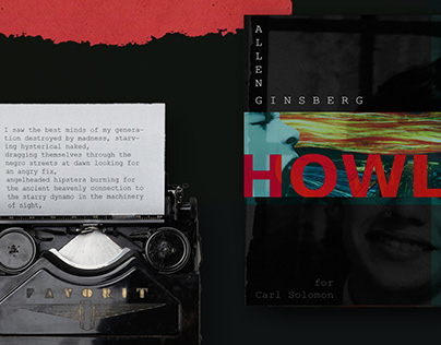Howl. Cover and layout of Ginsberg's book