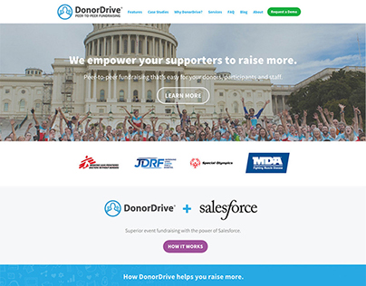 DonorDrive Website