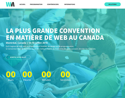 Montreal Web Convention   Website Mockup
