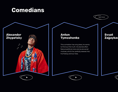 Website for Underground Stand up in Kyiv