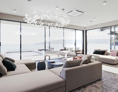 Interior Render for a Living Room