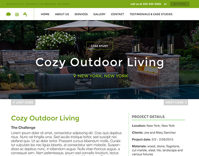 Scalia's Landscape Company Website