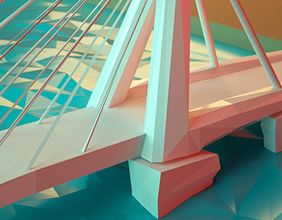 Lowpoly 'Bridge of Rotterdam'