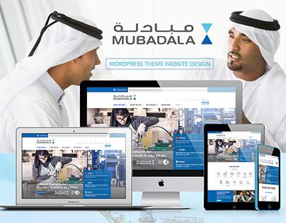 Mubadala WordPress Wesbite Design