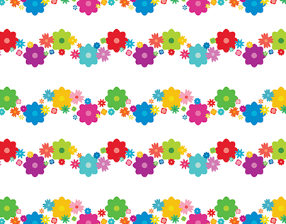 Floral Zig Zag Repeat Pattern