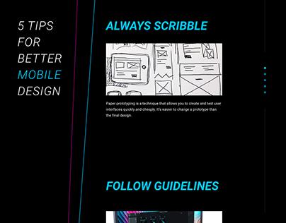 5 tips for better mobile design.