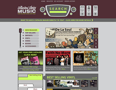 Collectors' Choice Music-Responsive Website