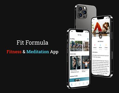 Fit Formula - UI/UX for Fitness & Meditation App