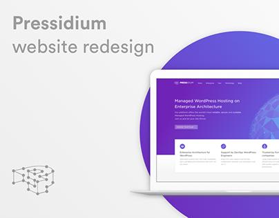 Pressidium, marketing website redesign