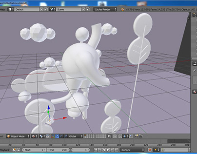 Illustrative approach for 3D renders.