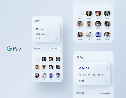 Google Pay Redesign Concept (GPay - Skeuomorphism)