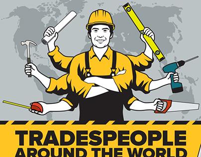 Tradespeople around the World - infographic