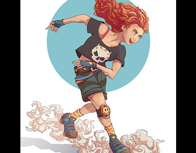 Roller girl   character design