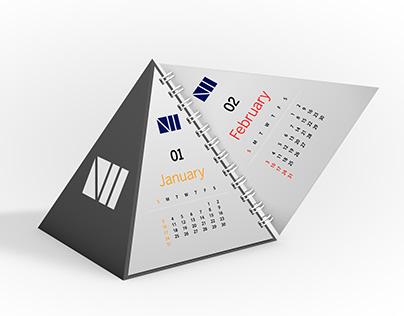 Pyramid Calendar Mockup - Free