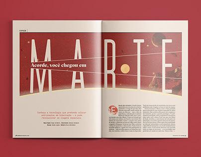 [Design Editorial] Acorde, você chegou em Marte