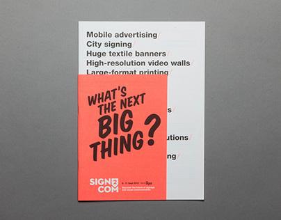 Sign2com 2012 / Event Branding