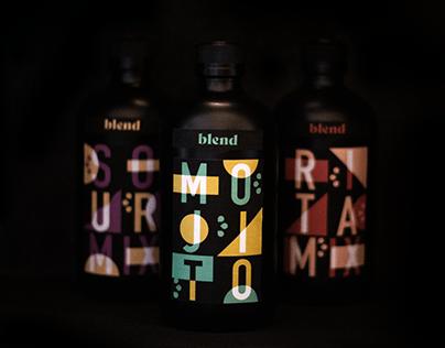 Blend \ Alcohol mixer packaging design