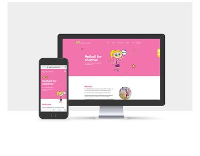Children's sports club website for netball classes