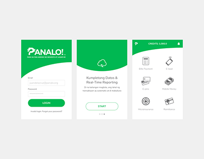 Mobile product design — Panalo!