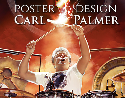 Carl Palmer's  tour poster design