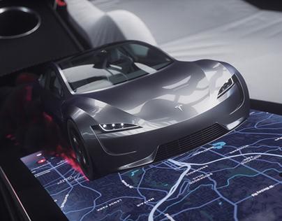 Tesla Roadster 2020 Complete 3D Model & Rig